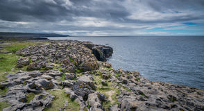 Cliffs of Burren panorama Stock Photos