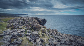 Cliffs of Burren panorama Stock Image