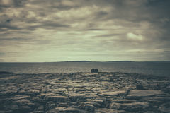 Cliffs of Burren panorama Stock Photography