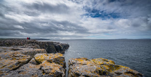 Cliffs of Burren panorama Royalty Free Stock Photo