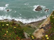 Cliffs of Cabo da Roca Cape Roca in Sintra. The most western point of Europe. Cliffs of Cabo da Roca Cape Roca in Sintra. The most western point of Europe royalty free stock photography