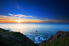 Cliffs Cabo da Roca at sunset Stock Photo