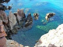 Cliffs-Cabo de Gata-Almeria-Andalusia στοκ εικόνες