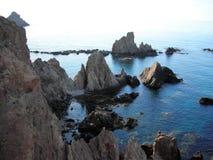 Cliffs-Cabo de Gata-Almeria-Andalusia στοκ εικόνα με δικαίωμα ελεύθερης χρήσης