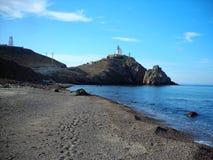 Cliffs-Cabo de Gata-Almeria-Andalusia στοκ εικόνες με δικαίωμα ελεύθερης χρήσης