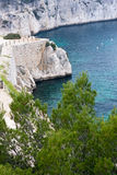 Cliffs of calanques near cassis. High cliffs in the calanques near cassis Stock Photos
