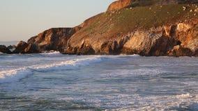 Cliffs of California coast stock video footage