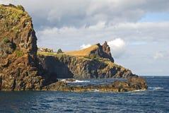Cliffs in Canico de Baixo village, Madeira Island, Portugal. Cliffs in Canico de Baixo village on Madeira Island, Portugal Royalty Free Stock Images