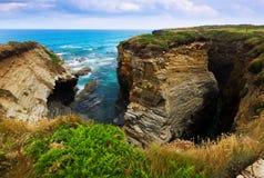 Cliffs Cantabric coast of Spain Royalty Free Stock Photo