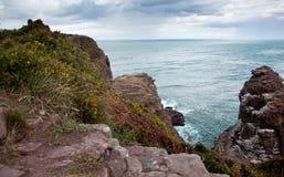 Cliffs at Cap Frehel Stock Images