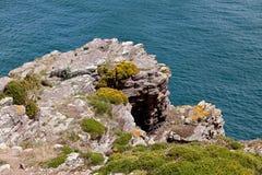 Cliffs at Cap Frehel Stock Photos