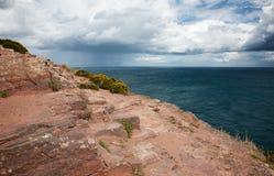 Cliffs at Cap Frehel Royalty Free Stock Photo