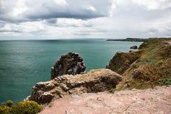 Cliffs at Cap Frehel Stock Photography