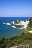 Cliffs of Cape Drastis, Corfu, Greece Royalty Free Stock Images