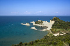 Cliffs of Cape Drastis, Corfu, Greece Stock Photography