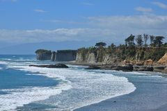Cliffs at Cape Foulwind, New Zealand Stock Image