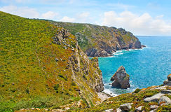 The cliffs of Cape Roca Royalty Free Stock Image