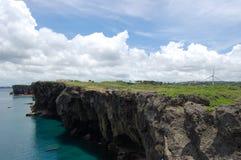Cliffs at Cape Zampa stock photo