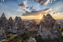 Cliffs of Cappadocia Royalty Free Stock Photos