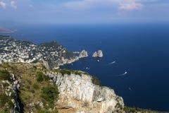 Cliffs of Capri, Capri island,  Italy Stock Photography