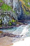 Cliffs at Carrick A Rede in Northern Ireland Stock Photo
