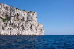 Cliffs of Cassis. View on cliffs of Cassis in France Stock Photos