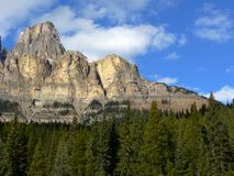 Cliffs of Castle Mountain Stock Photo