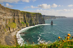 Cliffs, Castle Tower, West Coast Of Ireland Royalty Free Stock Images