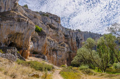 Cliffs and caves Royalty Free Stock Image