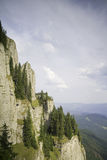 Cliffs of Ceahlau Mountain, Romania. Really steep cliffs from the Ceahlau Massif in Romania Stock Image