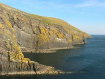 Cliffs, Cilan Head. Stock Photography