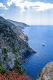Cliffs in the Cinque Terre, Liguria, Italy Stock Photos