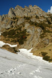 Cliffs in Ciucas mountains, Romania Stock Images