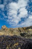 cliffs clouds Royaltyfria Bilder