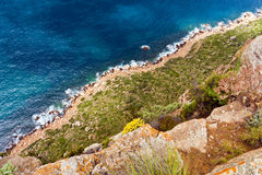 Cliffs and coast Stock Image