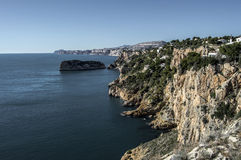 Cliffs on the coast of Alicante Royalty Free Stock Photo