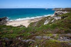 Cliffs and Coast at Cap Frehel Royalty Free Stock Photo