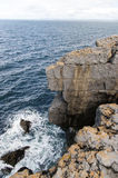Cliffs on the coast of County Clare Royalty Free Stock Images