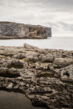 Cliffs. At the coast of Gozo Island, Malta Royalty Free Stock Image