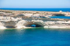 Cliffs, coast of Malta Stock Photo