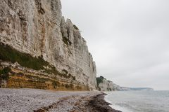 Cliffs on the coast. Mist Royalty Free Stock Photo