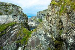 Cliffs at the Coast of Mizen Head Stock Photography