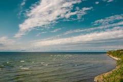 Cliffs at the coast in Paldiski, Estonia. Cliffs at the coast in Paldiski, Baltic sea, Estonia Stock Photo