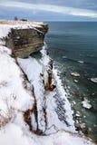Cliffs. Coastal cliffs near Paldiski city in Estonia Stock Images