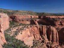 Cliffs in Colorado mountains Stock Photo