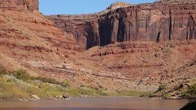 Cliffs of Colorado River gorge stock video