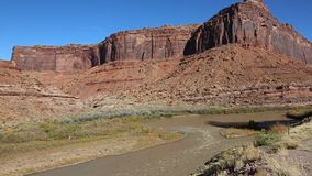 Cliffs of Colorado River Valley stock video
