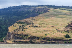Cliffs at Columbia River Gorge Pacific Northwest between Oregon and Washington Stock Images