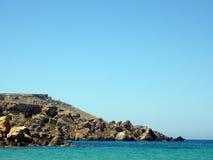 Cliffs in Comino island Stock Image
