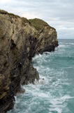 Cliffs of Cornwall. Clifs and sea Cornwall Porth Area England Stock Photo